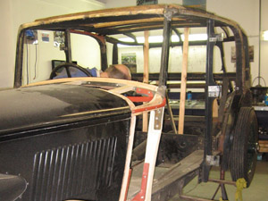 1934 Alvis Speed 20 SB having substantial work to the ash frame