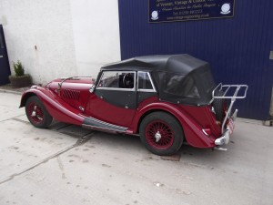 1966 Morgan 44 being changed to suit the owner who had restricted mobility so needed wider doors to access the car