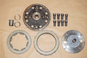 Derby Bentley clutch parts ready for re-assembly
