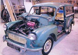 1965 Morris Traveller before restoration