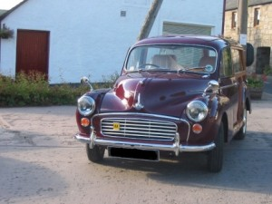 1965 Morris Traveller ready for delivery following major restoration work