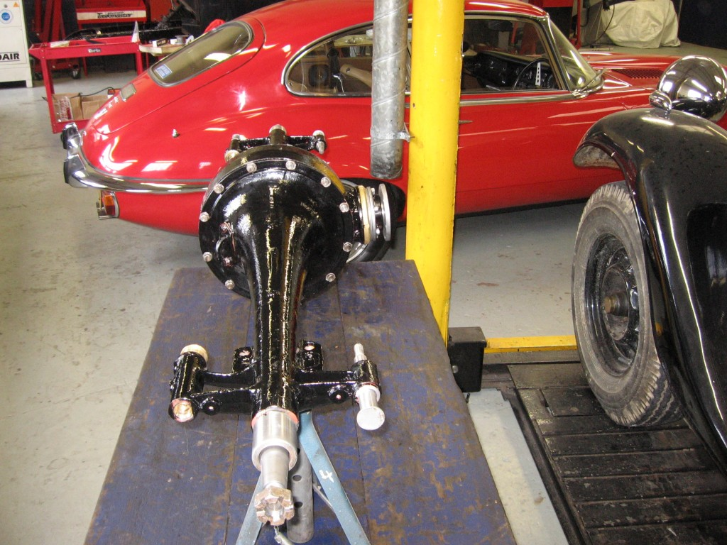 Axle overhauled and ready to refit