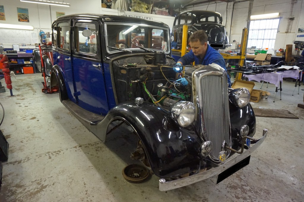 1935 Standard 12 - in for servicing