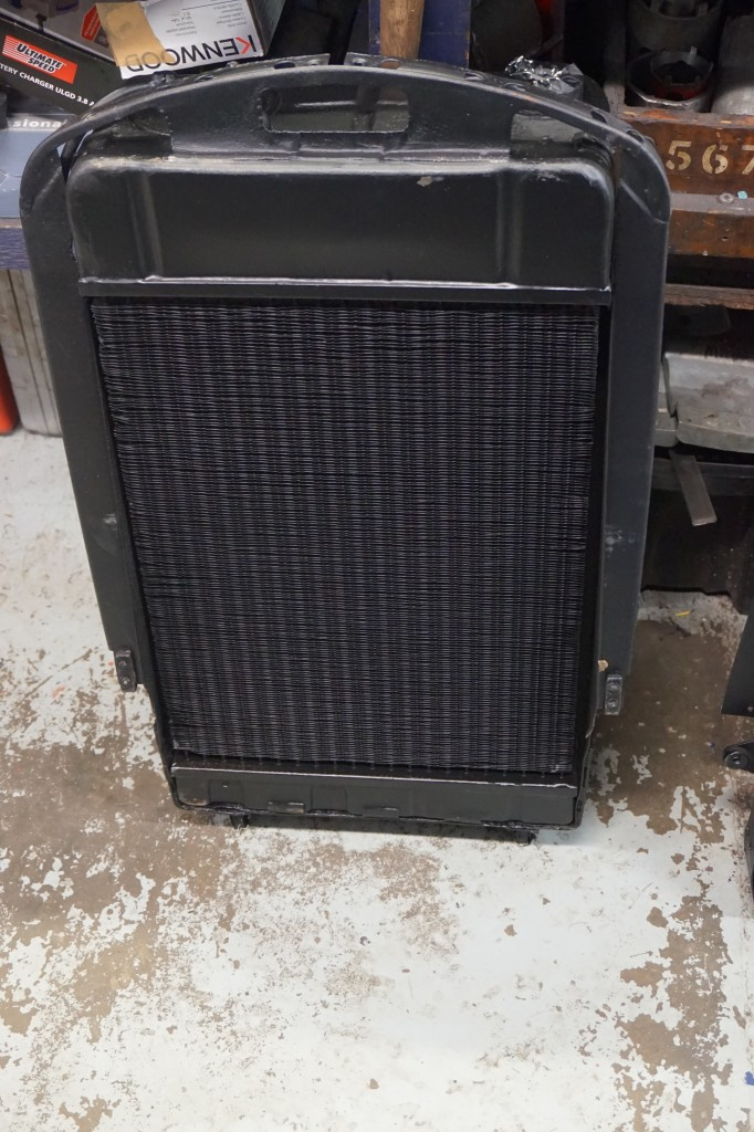 Radiator with new core - the car had been suffering from overheating problems
