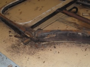 Parts of the doors were quite badly rotten