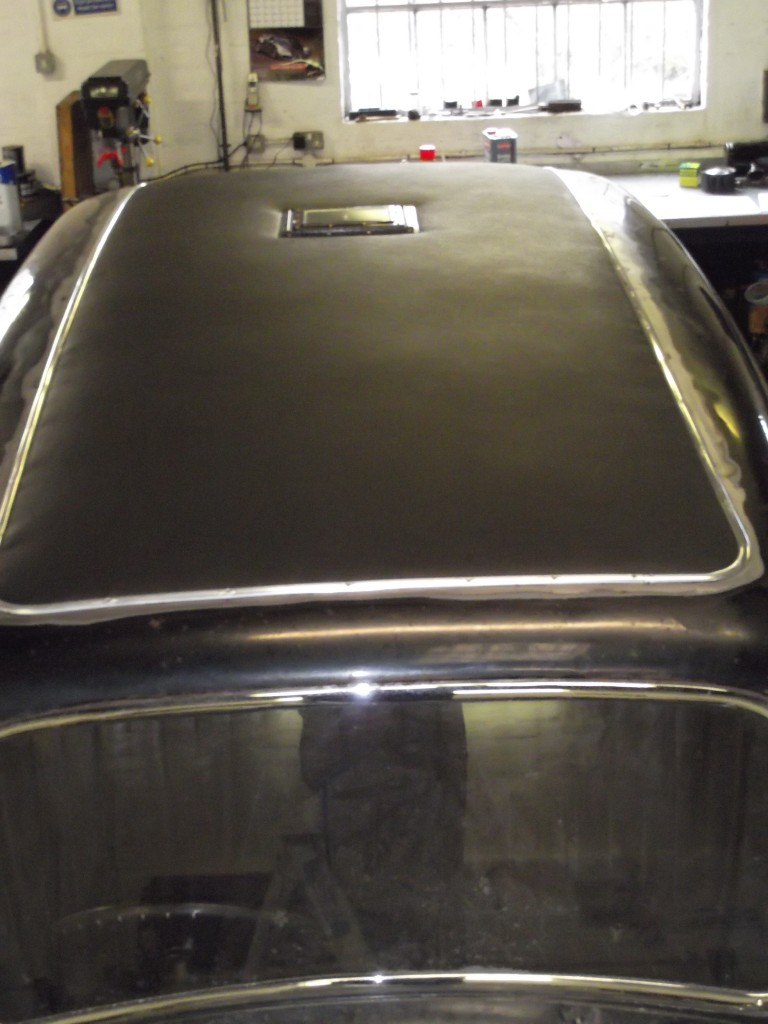 Finally the outer roof covering was in place the smoker's hatch refitted