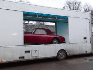 Car heads back to its owners in Switzerland