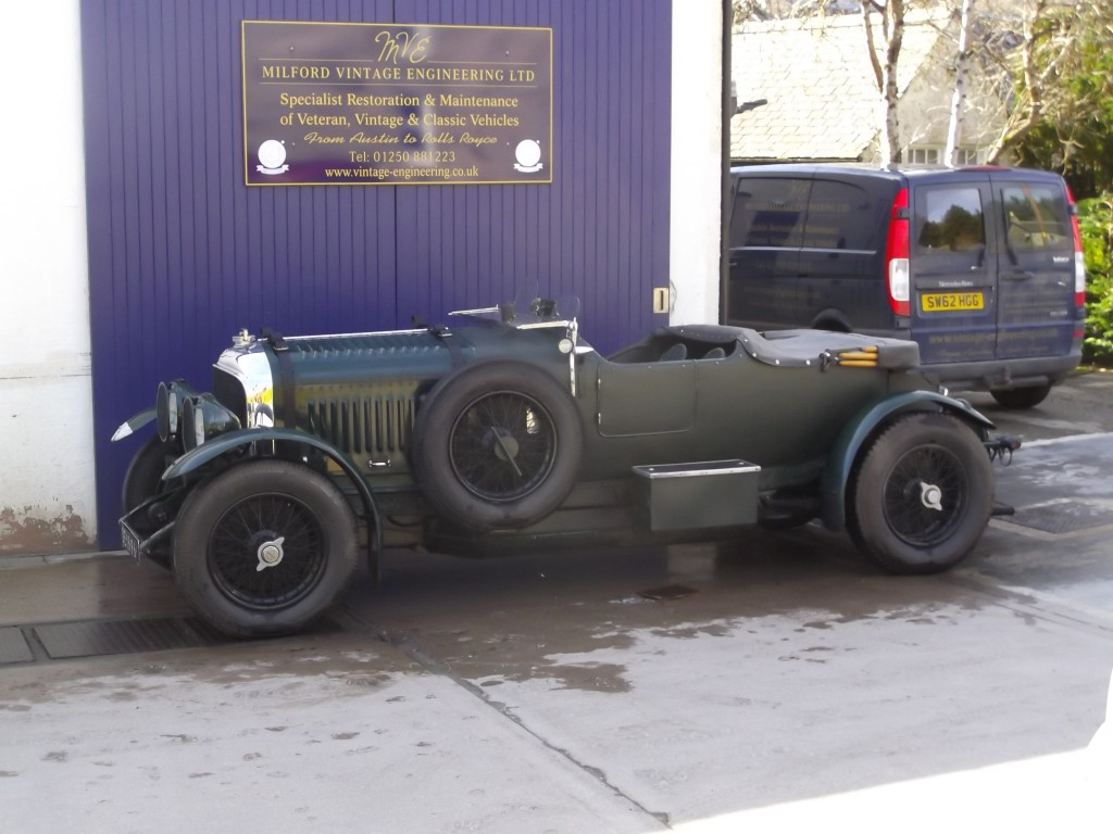 1929 WO Bentley arrives for engine work