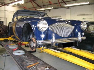Austin Healey 100/4 This had a full engine rebuild, a little trim work and general re-commissioning