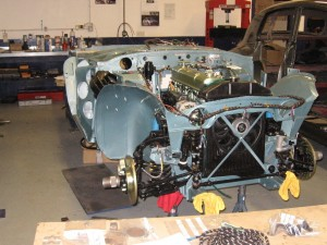 Building the car back up again. It has uprated brakes and suspension as well as a 5-speed gearbox conversion