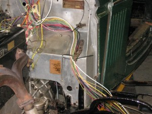 Derby Bentley 4 1/4 rewire. New cables in the process of being run