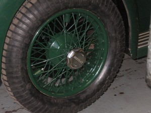 Refurbished wheel with new Blockley tyres