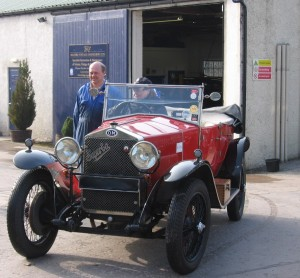 Setting off for the Mille Miglia