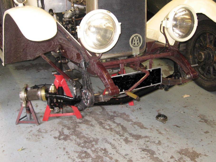 Vauxhaull 30-98 work on front axle