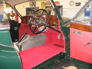 XK140 Most of the new carpets are now fitted
