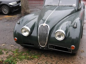 XK140 front view before work started