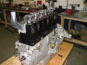 1934 Alvis Speed 20 SB - engine during rebuild