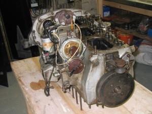 1934 Alvis Speed 20 SB - engine during strip down