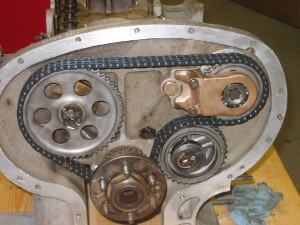 1934 Alvis Speed 20 SB - timing gear, after