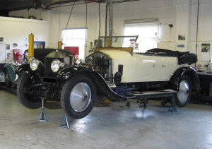 1924 Rolls-Royce Silver Ghost A regular visitor for servicing, this car has toured Italy and changed owners but still comes back for regular maintenance thus avoiding any major problems