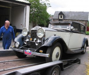 Sophie the 1935 20/25 returns from the Himalayan Rally